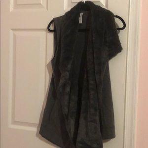 Ideology Jackets & Coats - Faux Fur Lined Sweatshirt Vest